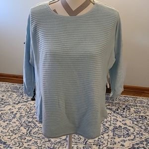 Chicos sz 2 sweater blue sz 12/14
